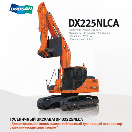 Экскаватор Doosan DX 225NLCA